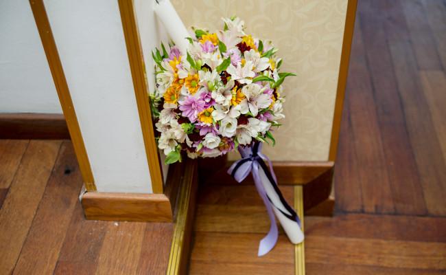 Lumanare de botez crizanteme lisianthus alstromeria