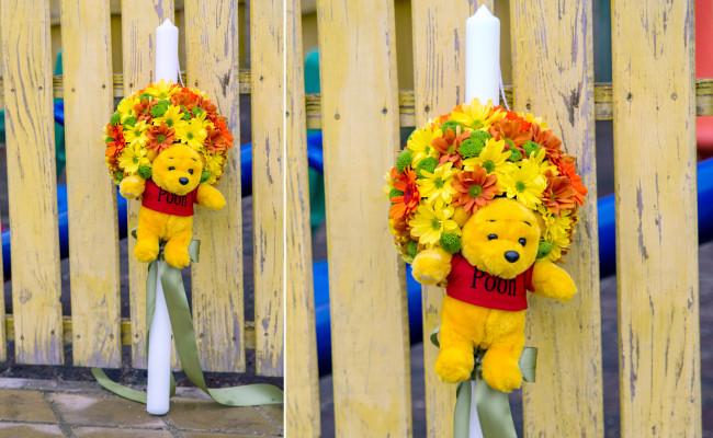 Lumanare de botez tematic Winnie & Friends