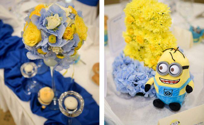 aranjamente florale botez tematic Minions