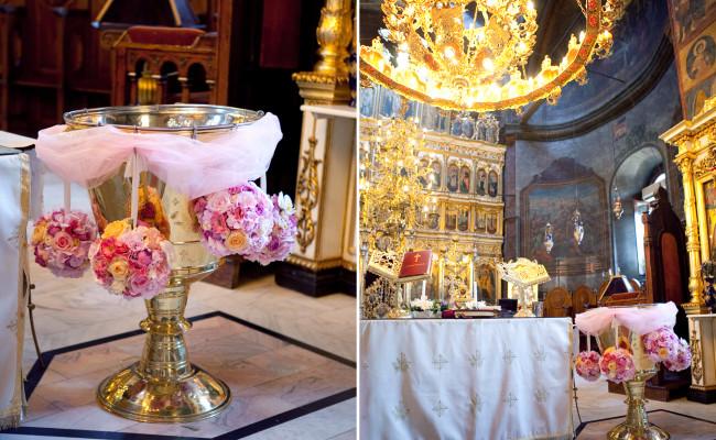 Decor cristelnita botez hortensii trandafiri lisianthus