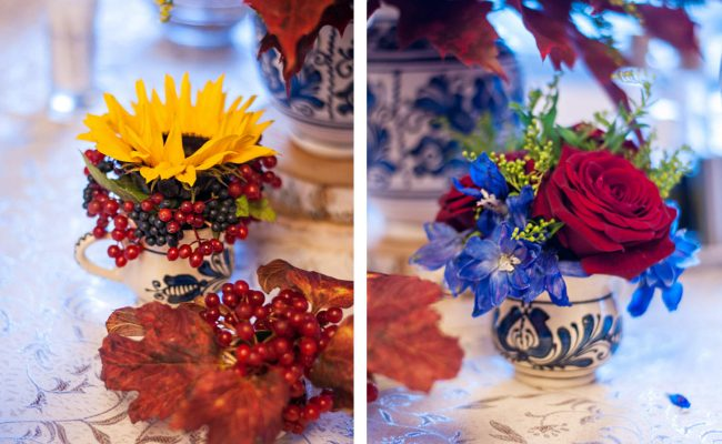 miniaranjamente florale tematica rustica