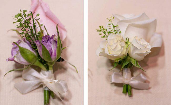 cocarde trandafiri roz albi miniroze albe mov thlaspi