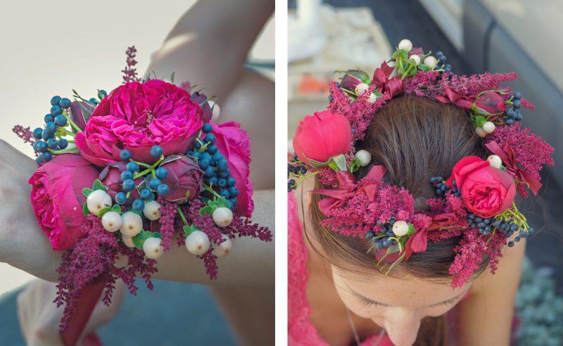corsaj si coronita florala